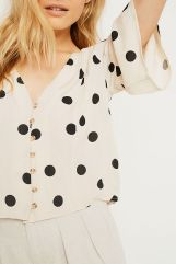 Spotted Blouse, Urban Outfitters | £36